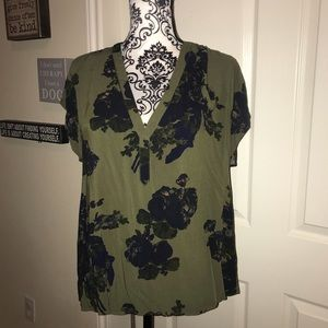 H&M green and black tunic